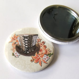 Pocket Mirror - Steampunk Top Hat
