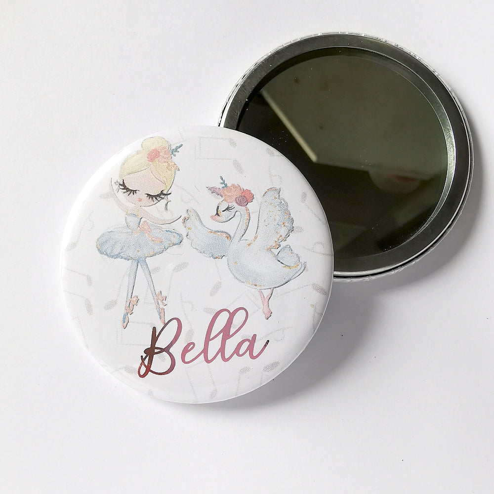 Personalised Ballerina Pocket Mirror
