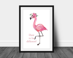 Foil Print - Dare to be Different Quote