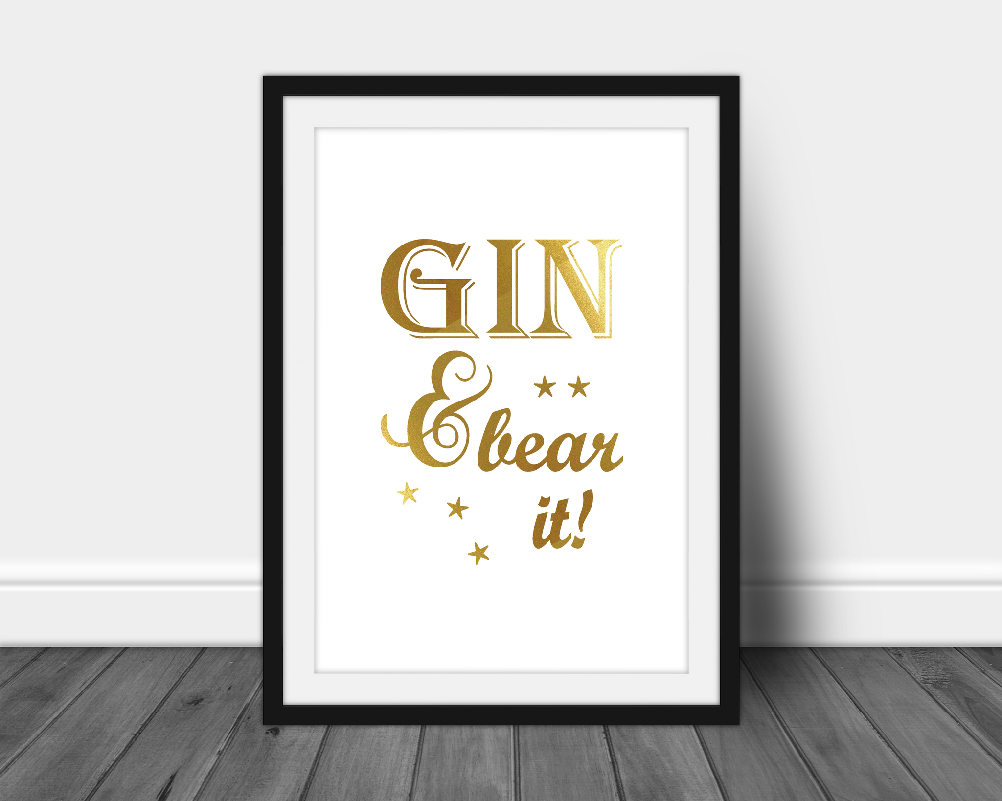 Foil Print - Gin and Bear It