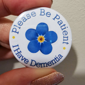 dementia awareness badge alzheimers sufferer