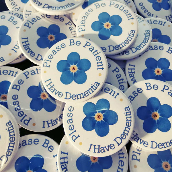 alzheimers society awareness pin badges dementia