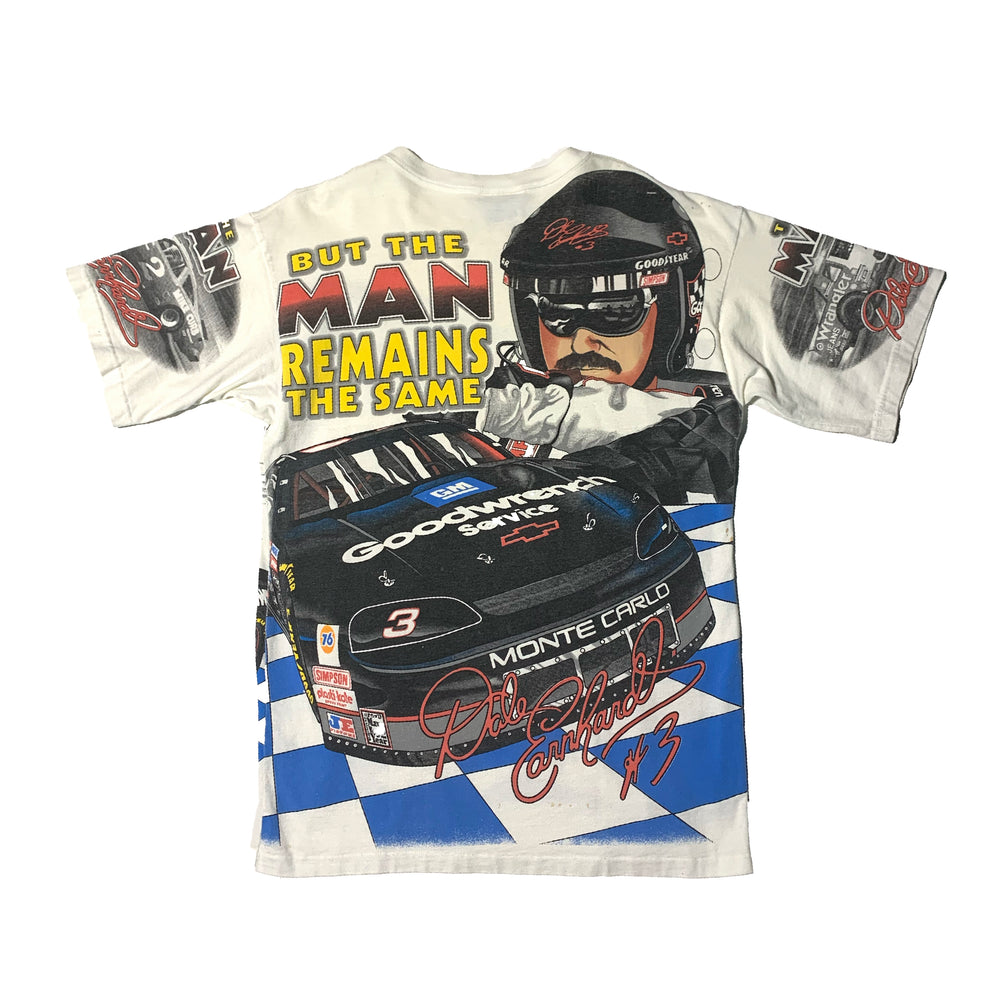 "Load image into Gallery viewer, Vintage Dale Earnhardt NASCAR ""The Man"" Race T-Shirt"