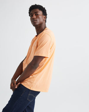 Load image into Gallery viewer, Richer Poorer Pima Crew Pocket Tee - 'Cantaloupe'