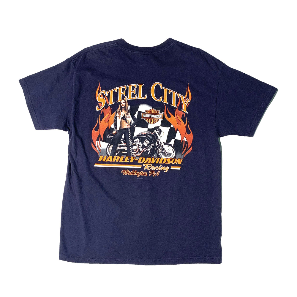 Load image into Gallery viewer, Vintage Harley Davidson Flames T-Shirt