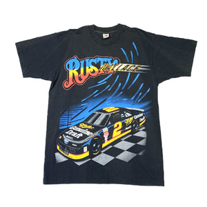 Load image into Gallery viewer, Vintage Rusty Wallace Kickin' Asphalt NASCAR T-Shirt