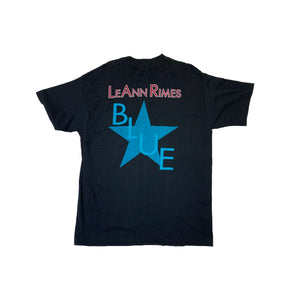 Load image into Gallery viewer, Vintage LeAnn Rimes Blue T-Shirt
