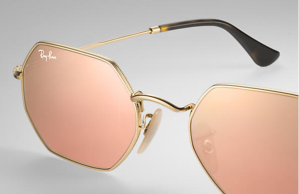 Load image into Gallery viewer, Ray-Ban Octagonal Flash Lenses - 'Copper Flash'