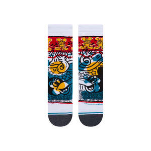 Load image into Gallery viewer, Stance Crew Sock - 'Primary Haring'