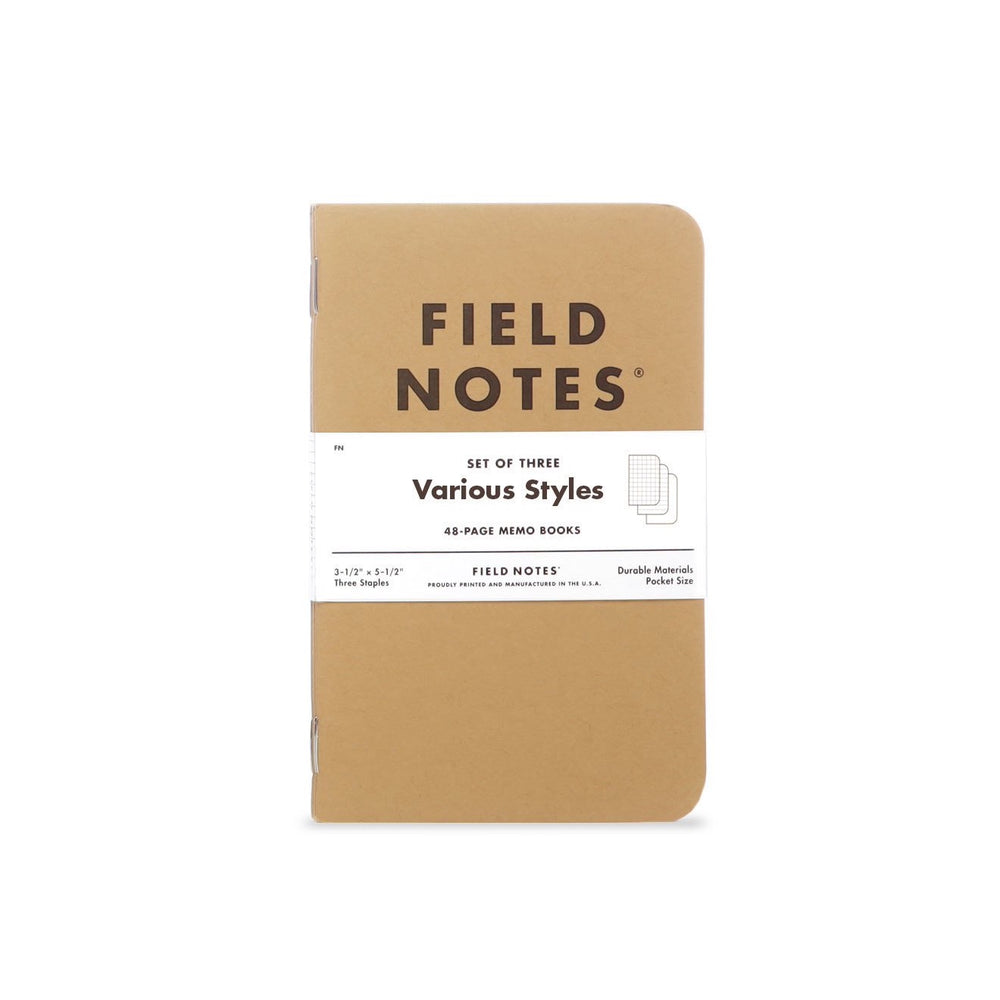 FIELD NOTES Original Kraft Notebook - 3-Pack