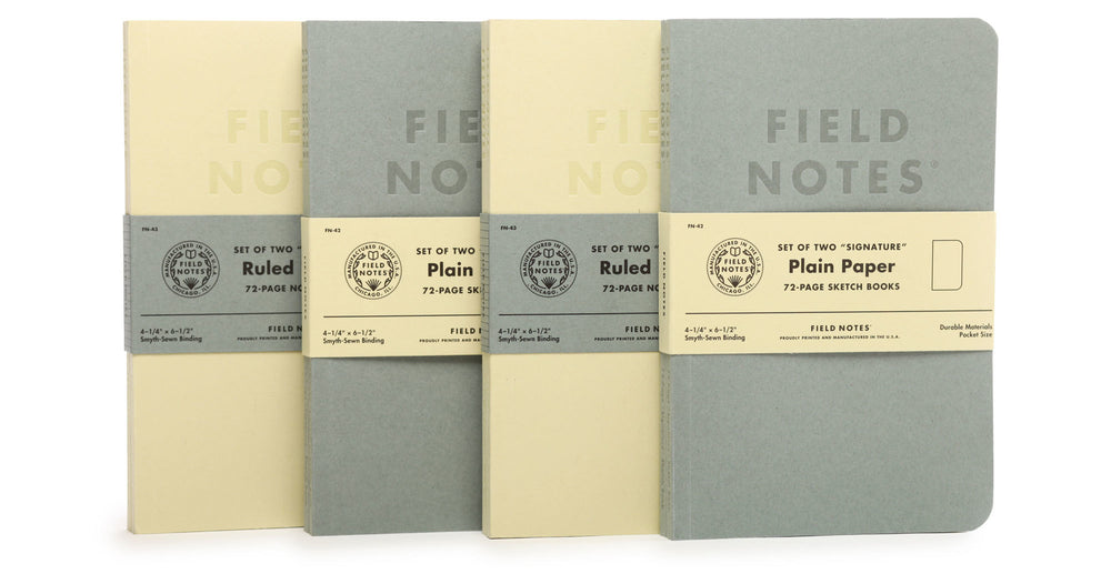 Load image into Gallery viewer, FIELD NOTES Signature Notebook - 2-Pack, Ruled