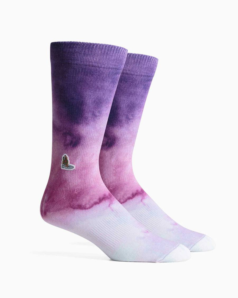 Richer Poorer Men's Barrels Socks - 'Purple'