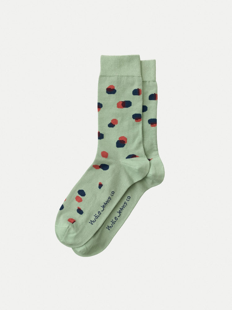 Load image into Gallery viewer, Nudie Olsson Dots Socks - Pale