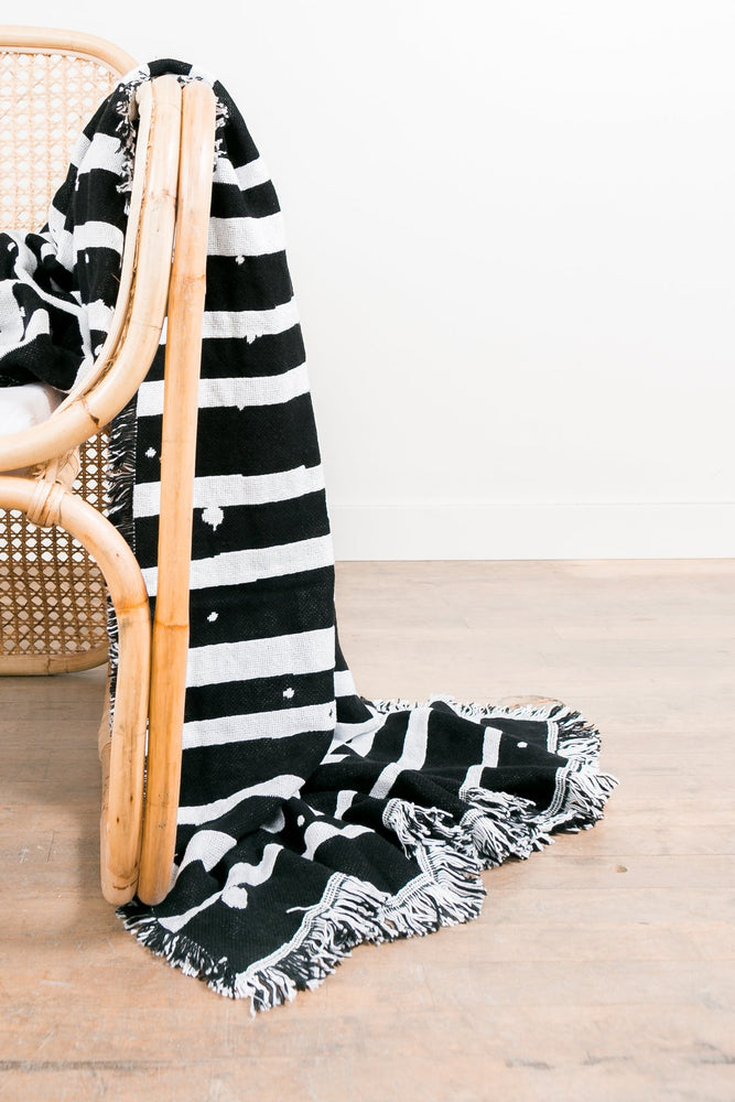 Load image into Gallery viewer, Sackcloth & Ashes Blanket - 'Contrast Stripes'