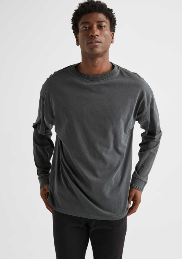 Richer Poorer Relaxed LS Pullover - 'Stretch Limo'