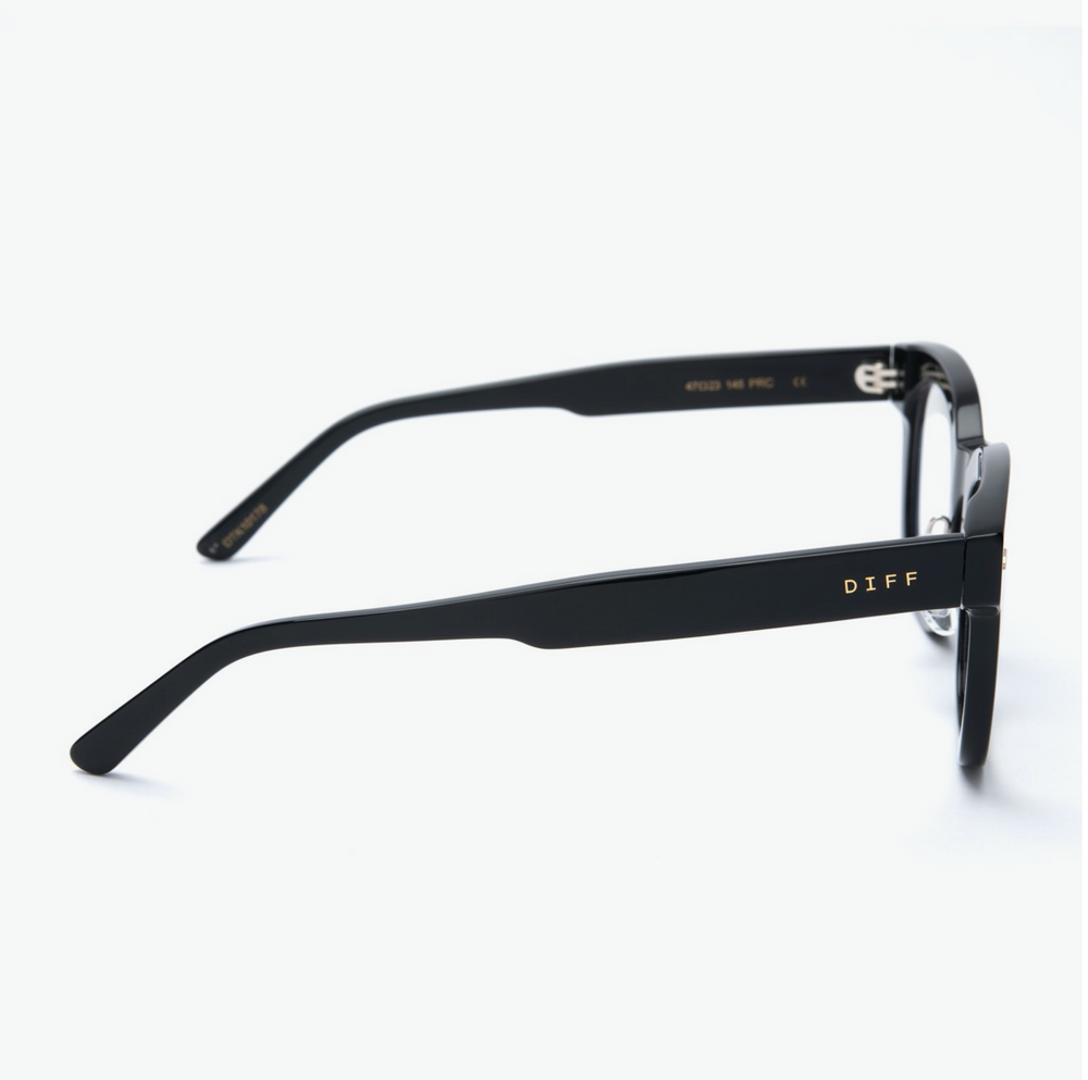 Load image into Gallery viewer, Diff Eyewear Summer - Black + Black Blue Light Tech Lens