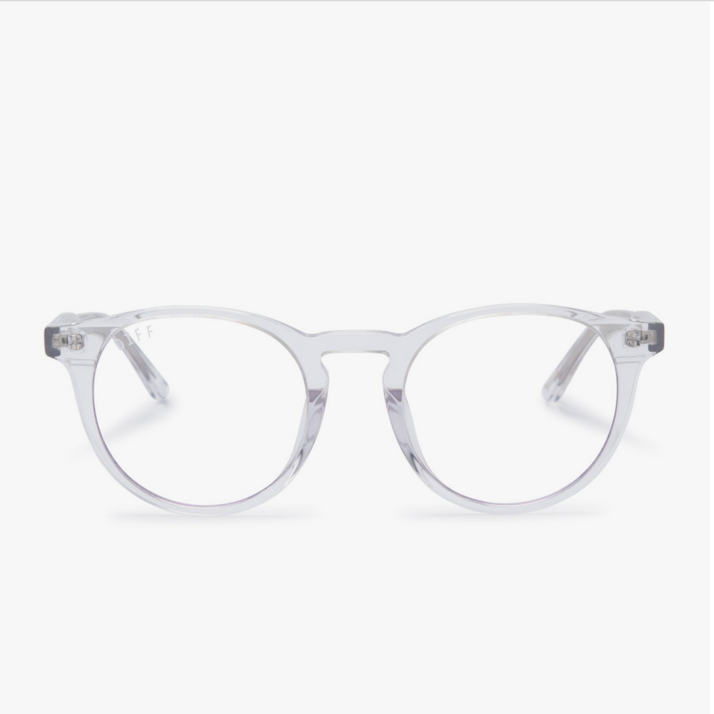 Diff Eyewear Sawyer - Clear Crystal + Blue Light Tech Lens