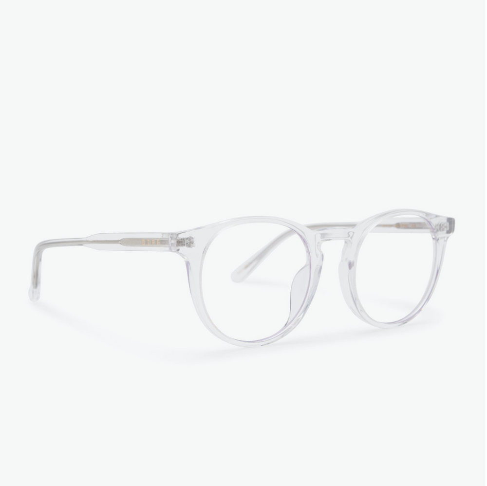 Load image into Gallery viewer, Diff Eyewear Sawyer - Clear Crystal + Blue Light Tech Lens