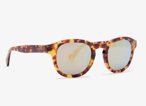 Load image into Gallery viewer, Diff Arlo Sunglasses - 'Amber Tortoise Gold Mirror'