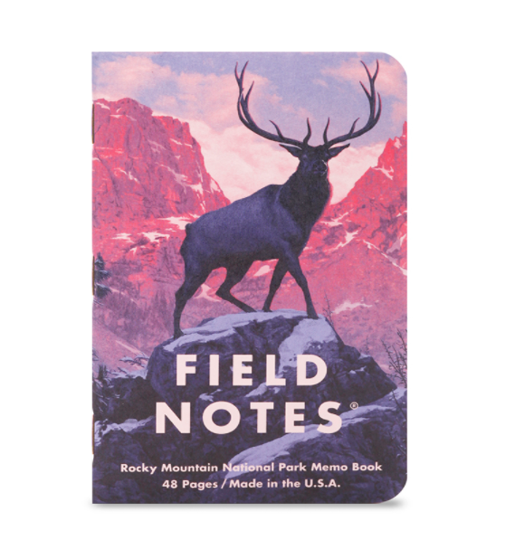 Field Notes National Park Memo Book 3 Pack - 'Rocky Mountain'