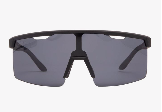 Diff Luka Sunglasses - 'Matte Black Smoke Polarized'