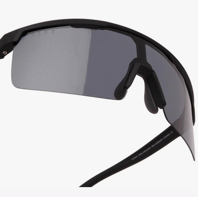 Load image into Gallery viewer, Diff Luka Sunglasses - 'Matte Black Smoke Polarized'