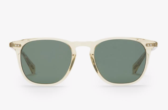 Diff Maxwell Sunglasses - 'Platinum Crystal G15 Polarized'