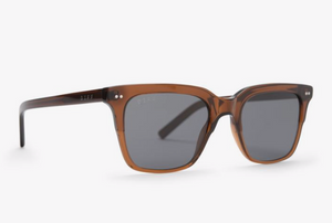 Load image into Gallery viewer, Diff Billie Sunglasses - 'Whiskey + Grey Polarized'
