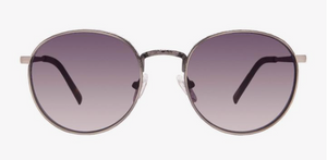 Load image into Gallery viewer, Diff Brooks Sunglasses - 'Brushed Gunmetal + Grey Gradient'