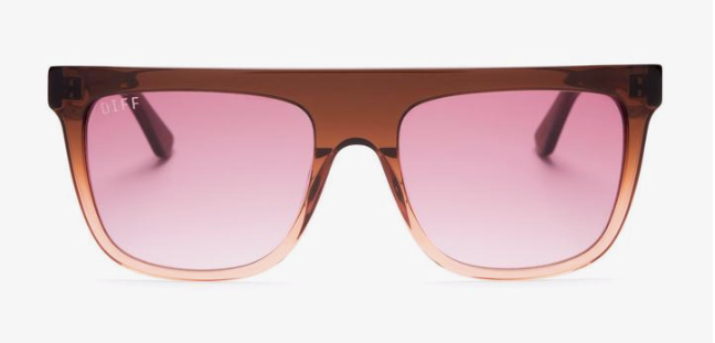 Diff Stevie Sunglasses - 'Taupe Ombre Crystal + Wine Gradient'