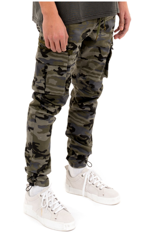 Load image into Gallery viewer, Kuwalla Cargo Trouser 2.0 - 'Blue Camo'