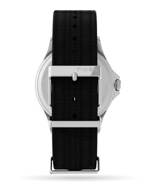 Load image into Gallery viewer, Timex Navi XL 41mm Fabric Strap Watch - 'Stainless-Steel/Black'