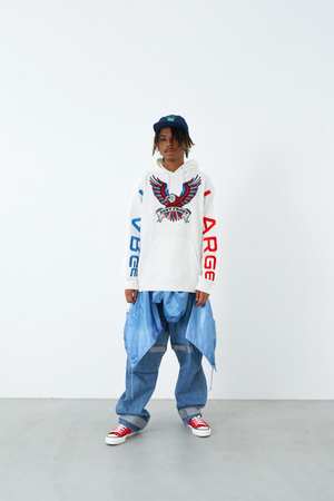 Load image into Gallery viewer, XLARGE Big Embroidery Logo Pullover - 'White'