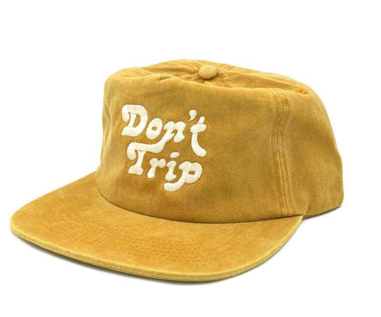 Free & Easy Don't Trip Snapback Hat - 'Washed Mustard'