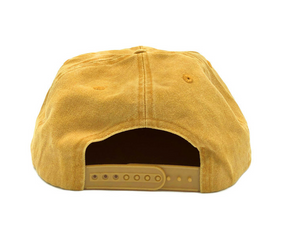 Load image into Gallery viewer, Free & Easy Don't Trip Snapback Hat - 'Washed Mustard'