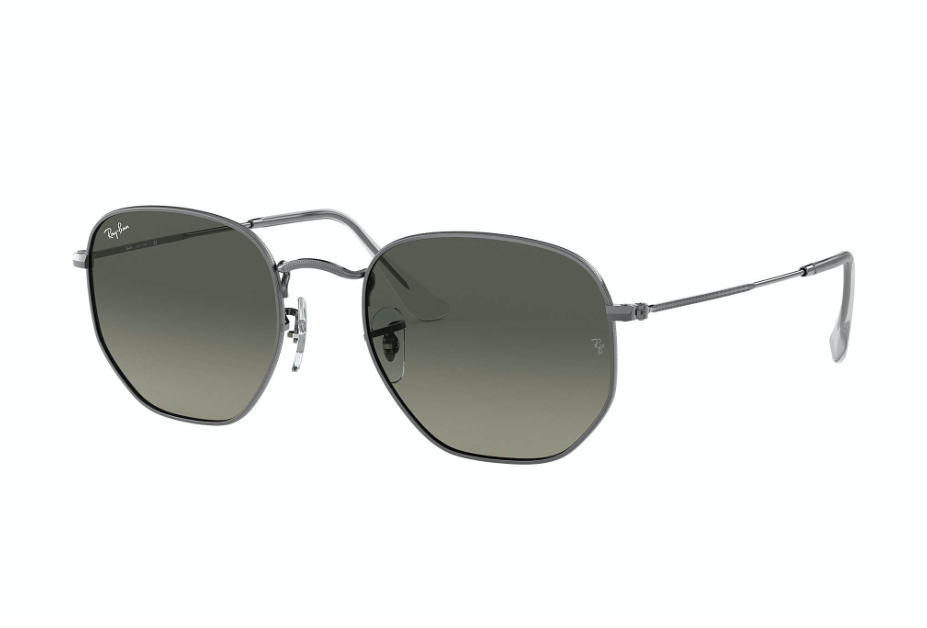 Load image into Gallery viewer, Ray-Ban Hexagonal Flat - 'Gunmetal Grey'