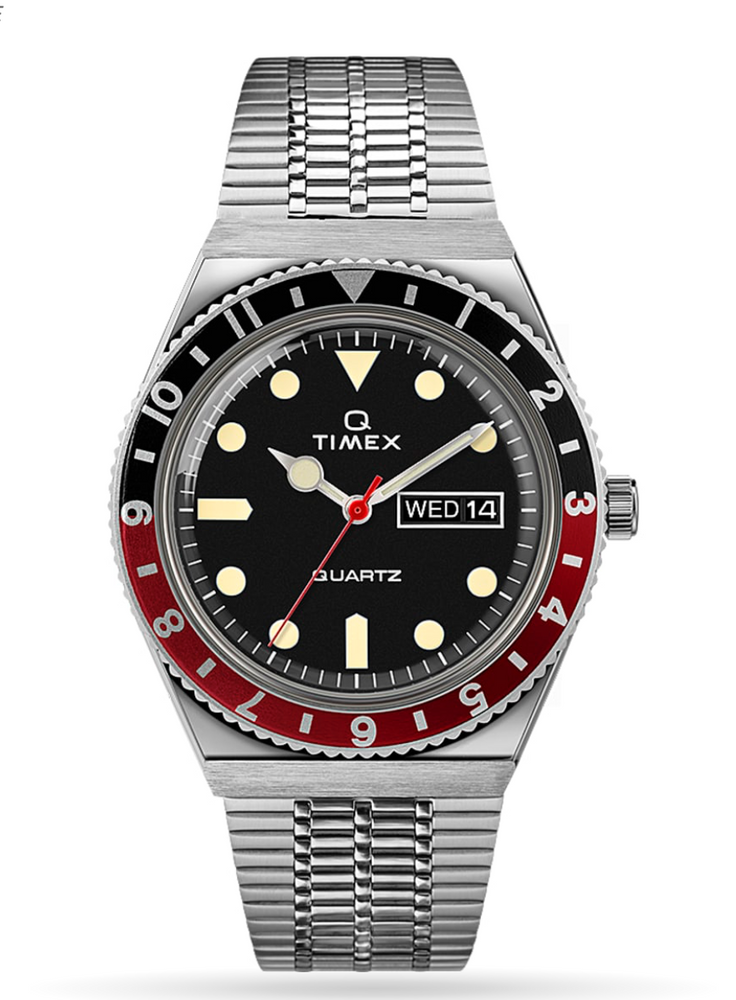 Load image into Gallery viewer, Timex Q Reissue Stainless Steel Watch - 'Red & Black'