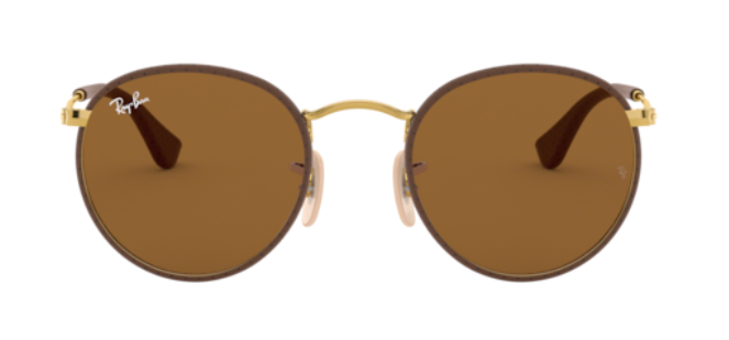 Ray-Ban Round Craft 'Leather Brown on Arista'