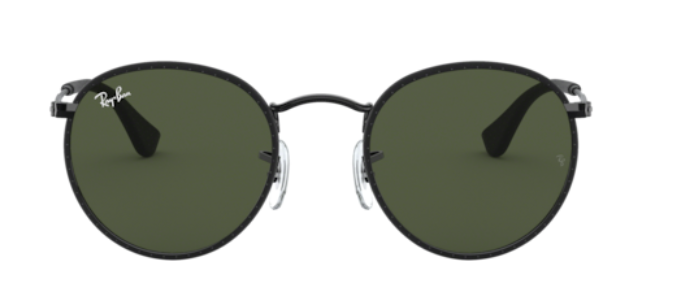 Ray-Ban Round Craft - 'Leather Black on Black'