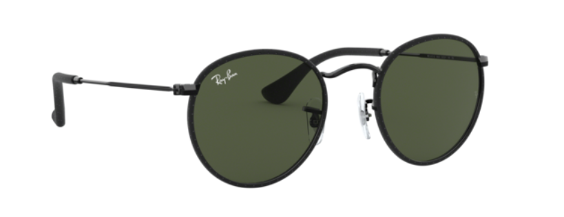 Load image into Gallery viewer, Ray-Ban Round Craft - 'Leather Black on Black'
