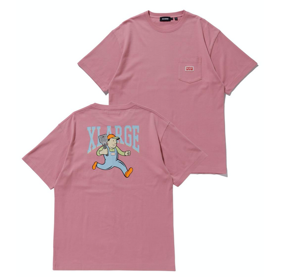 XLARGE Short Sleeve Key Person Pocket Tee - 'Pink'