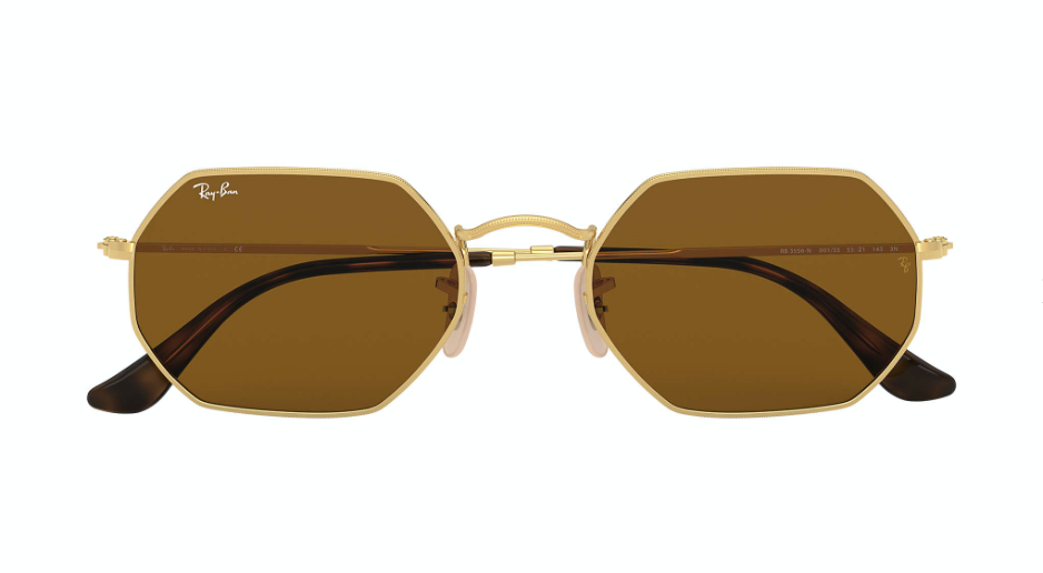 Ray-Ban Octagonal Classic 'Gold w/Brown'