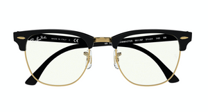 Load image into Gallery viewer, Ray-Ban Clubmaster - 'Black Gold Blue Light'