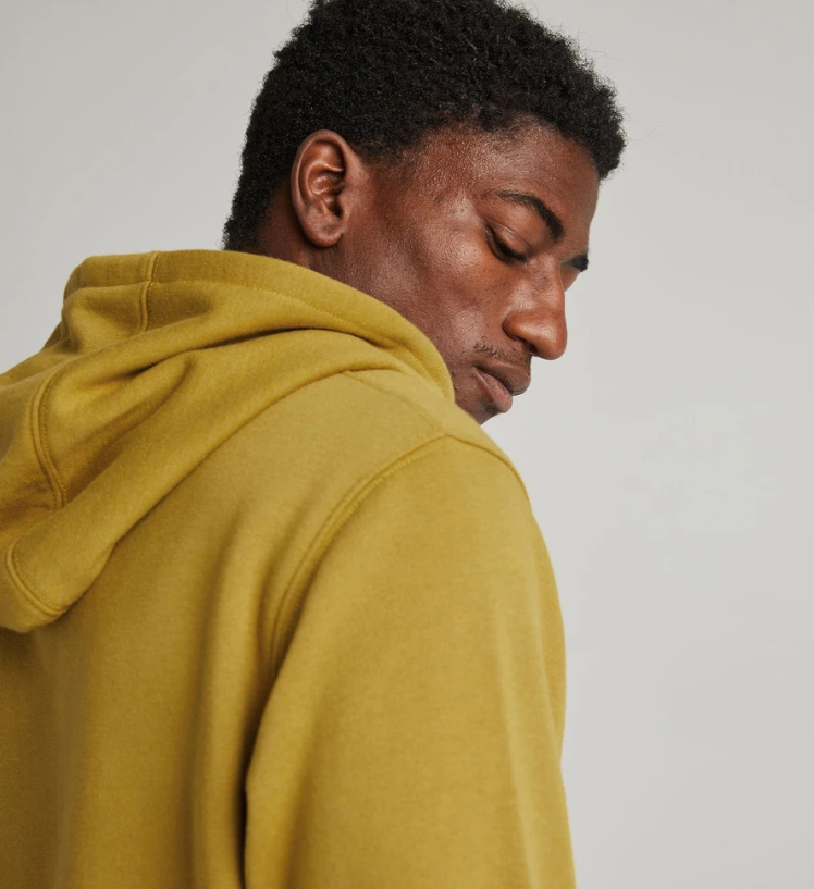 Load image into Gallery viewer, Richer Poorer - Men's Recycled Fleece Pullover Hoodie 'Golden Verde'