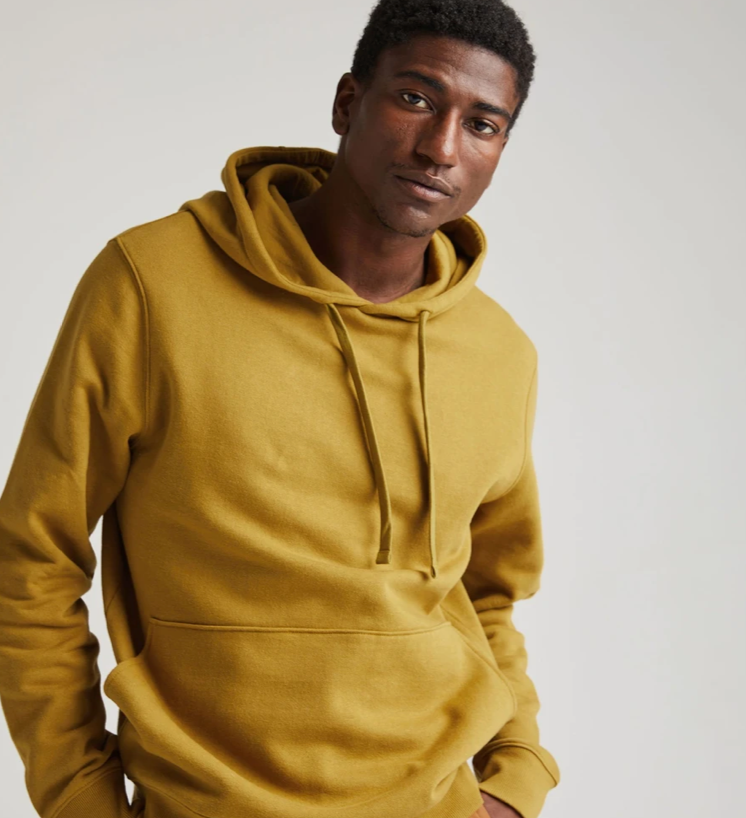 Richer Poorer - Men's Recycled Fleece Pullover Hoodie 'Golden Verde'