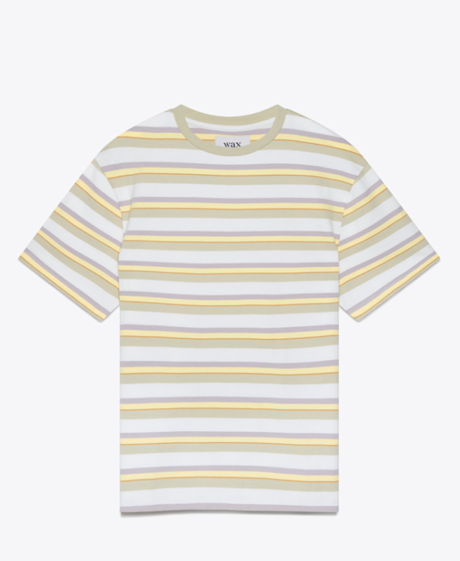 Wax London 'Dean T-Shirt Naples Stripe'