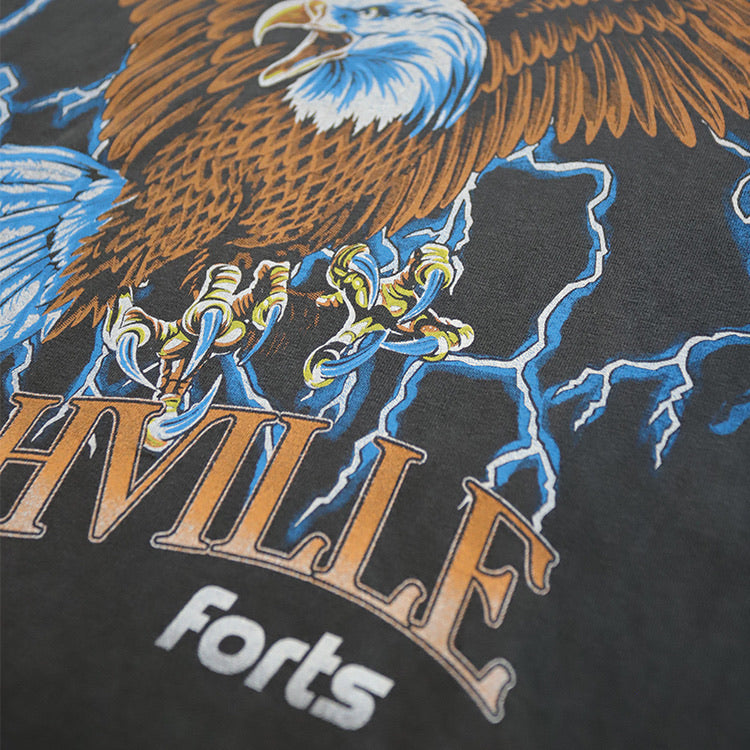 Load image into Gallery viewer, FORTS 'Nashville Eagle' Tee - 'Faded Black'