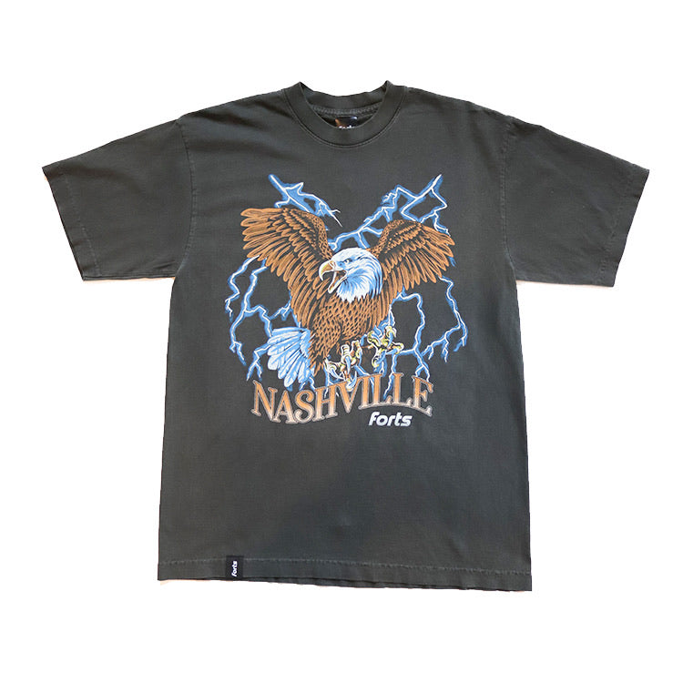 FORTS 'Nashville Eagle' Tee - 'Faded Black'