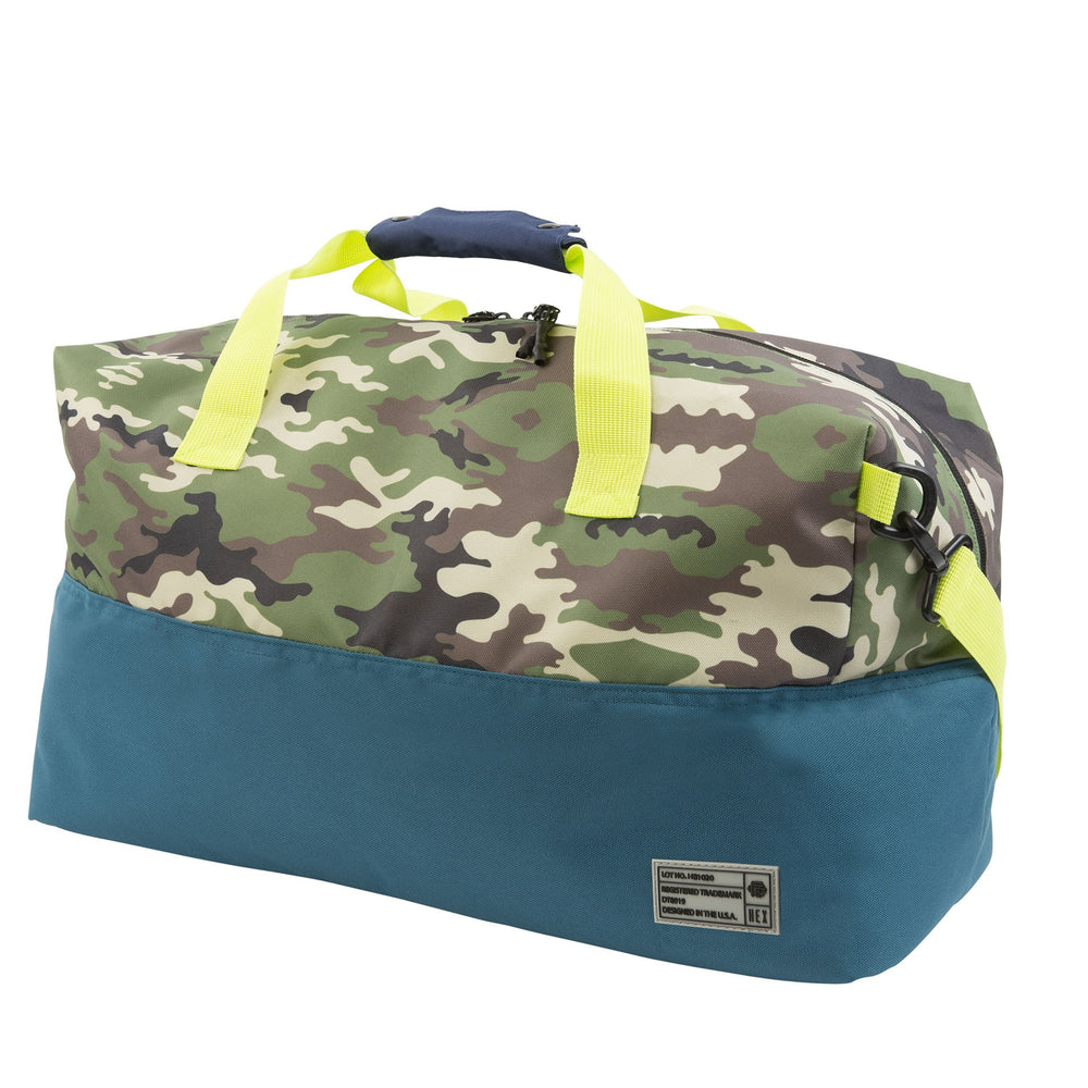 HEX ASPECT DUFFEL - 'CAMO/BLUE'