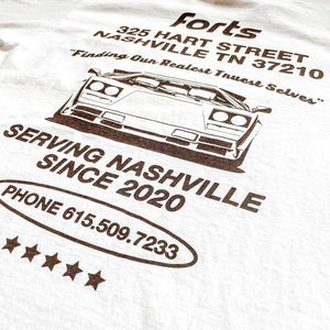 Load image into Gallery viewer, FORTS Nashville Lambo Shirt 'White / Chocolate'